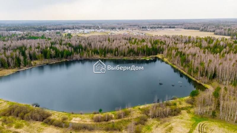 Земельные участки рядом с озером в окружении леса