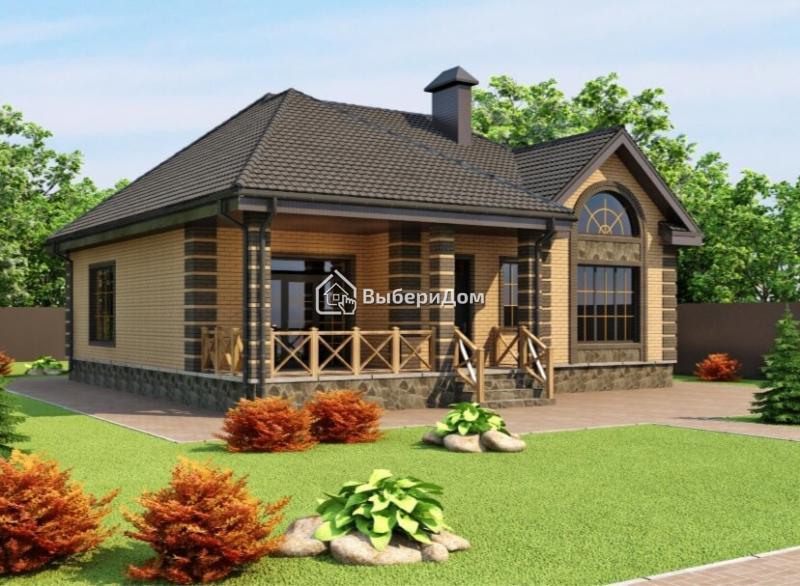 Одноэтажный загородный дом рядом с озером